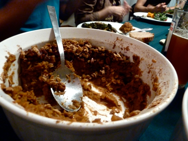 the end of rochelle's amazing sweet potato casserole
