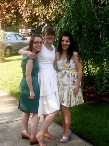 Meagan, Emily, and I at Em's wedding. 2010.