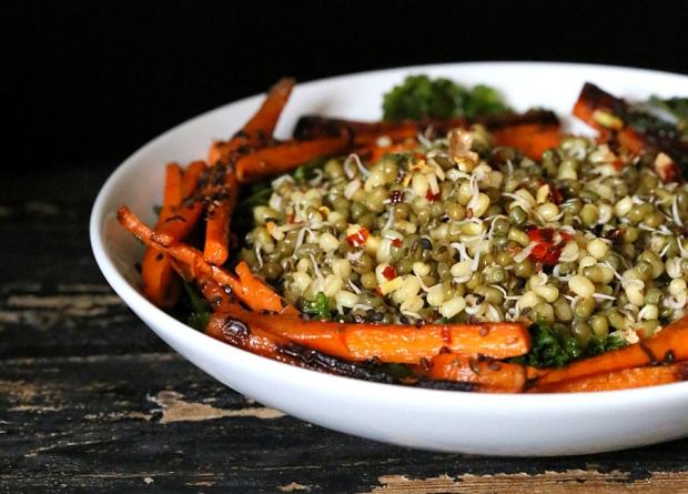 gobi wrap- mung bean salad 098